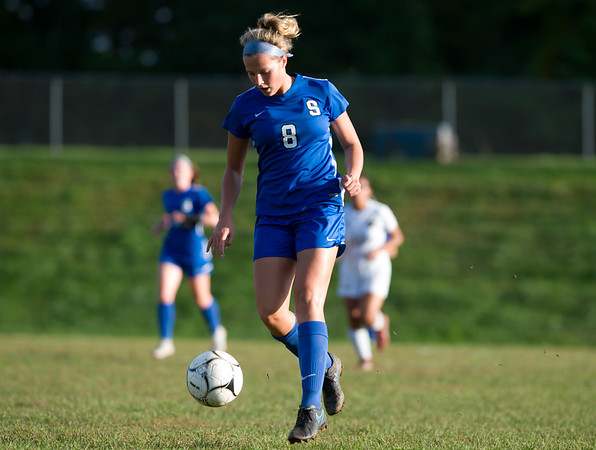 10/09/18 Wesley Bunnell | Staff Southington girls soccer defeated Platt at home on Tuesday afternoon. Allison Carr (8).
