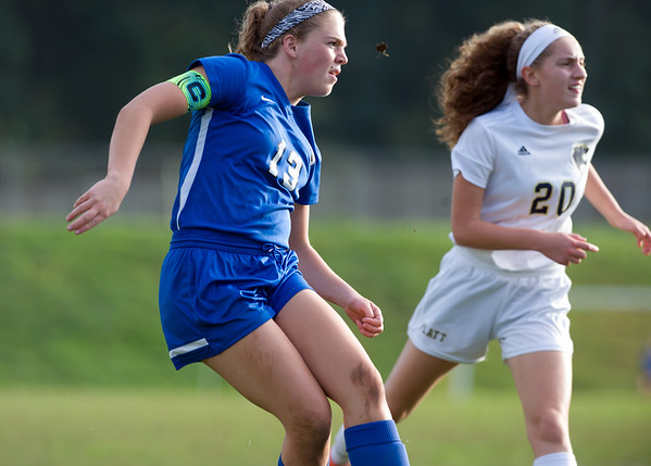 10/09/18 Wesley Bunnell | Staff Southington girls soccer defeated Platt at home on Tuesday afternoon. Natalie Verderame (13).