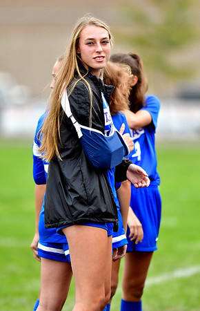 10/6/2018 Mike Orazzi | Staff St. Paul Girls Soccer's Addison Davis (33)Saturday.