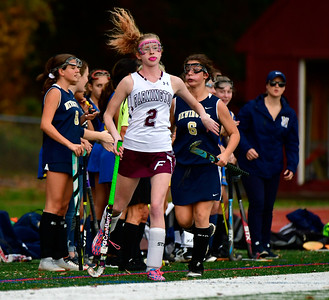 11/1/2018 Mike Orazzi | Staff Farmington's Olivia Burt (2) during field hockey at Farmington High School Thursday.