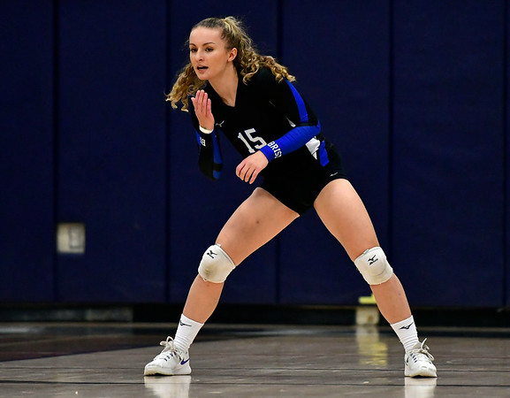 11/1/2018 Mike Orazzi   Staff Bristol Eastern's Rebecca Bender (15) during the CCC Volleyball Tournament at Avon High School Thursday night.