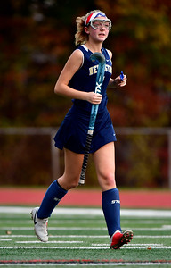 11/1/2018 Mike Orazzi | Staff Newington's Samantha Giudice (1) during field hockey at Farmington High School Thursday.