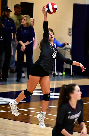 11/1/2018 Mike Orazzi   Staff Farmington High Schools Holly Picchioni (10) during the CCC Volleyball Tournament held at Avon High School Thursday night.
