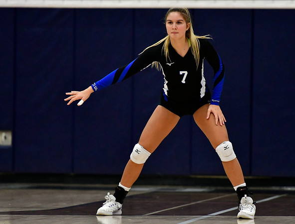 11/1/2018 Mike Orazzi   Staff Bristol Eastern's Zoe Lowe (7) during the CCC Volleyball Tournament at Avon High School Thursday night.