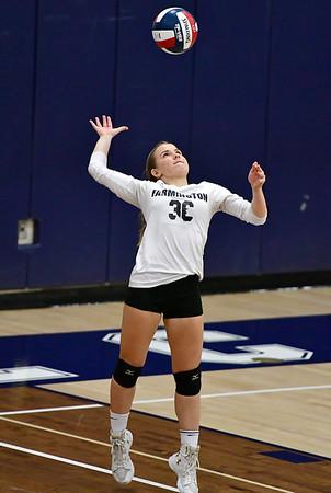 11/1/2018 Mike Orazzi   Staff Farmington High Schools Carolyn Piera (36) during the CCC Volleyball Tournament held at Avon High School Thursday night.