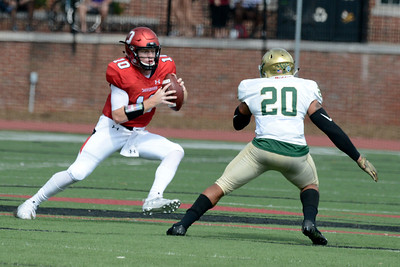 Davidson sophomore quarterback Tyler Phelps led the Wildcats to another victory at Richardson Stadium on Saturday. The 'Cats held onto an early lead to beat the Dolphins 44-37. The win moved the 'Cats to a 5-1 record on the season.