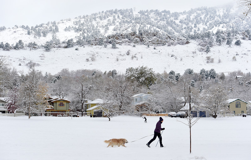 Snow in Boulder and Longmont
