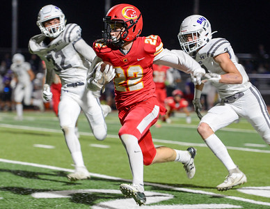 Chico's Atticus Mikles bursts upfield during the Panthers' game against Shasta on Sept. 27 in Chico. (Matt Bates -- Enterprise-Record)