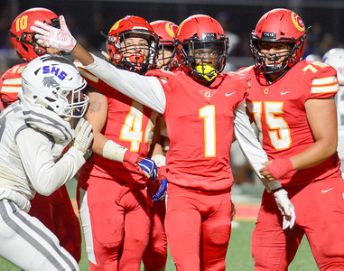Chico's Marvelous Owens signals first down during the Panthers' game against Shasta on Sept. 27 in Chico. (Matt Bates -- Enterprise-Record)
