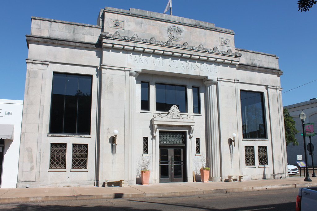 Bank of Clarksdale, a stone building