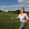 Tour of the Groton Hill Music Center, under construction, where the Indian Hill Music will move. Lisa Fiorentino, CEO of Indian Hill Music, leads reporter to the construction site. They own all this land.   SUN/Julia Malakie