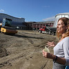Tour of the Groton Hill Music Center, under construction, where the Indian Hill Music will move. Lisa Fiorentino, CEO of Indian Hill Music, at the site. The 1,000 seat performance hall is at left; the 300 seat hall at right.   SUN/Julia Malakie
