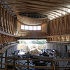 Tour of the Groton Hill Music Center, under construction, where the Indian Hill Music will move. This is the 1,000 seat performance hall, with one end opening to outdoors.   SUN/Julia Malakie