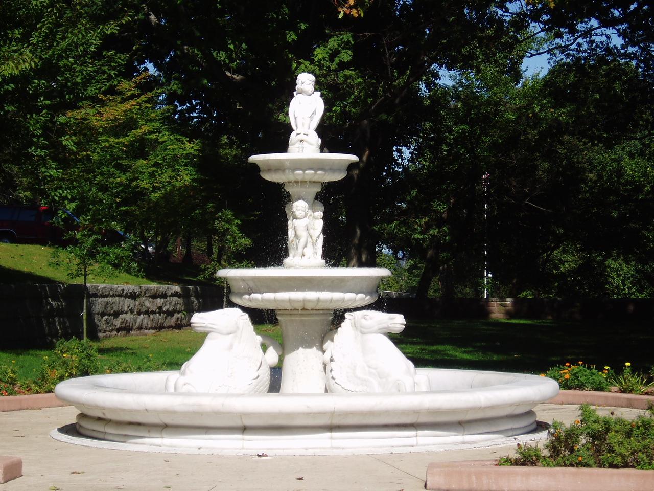 A fountain at Castle Lambert near Patterson, NJ.