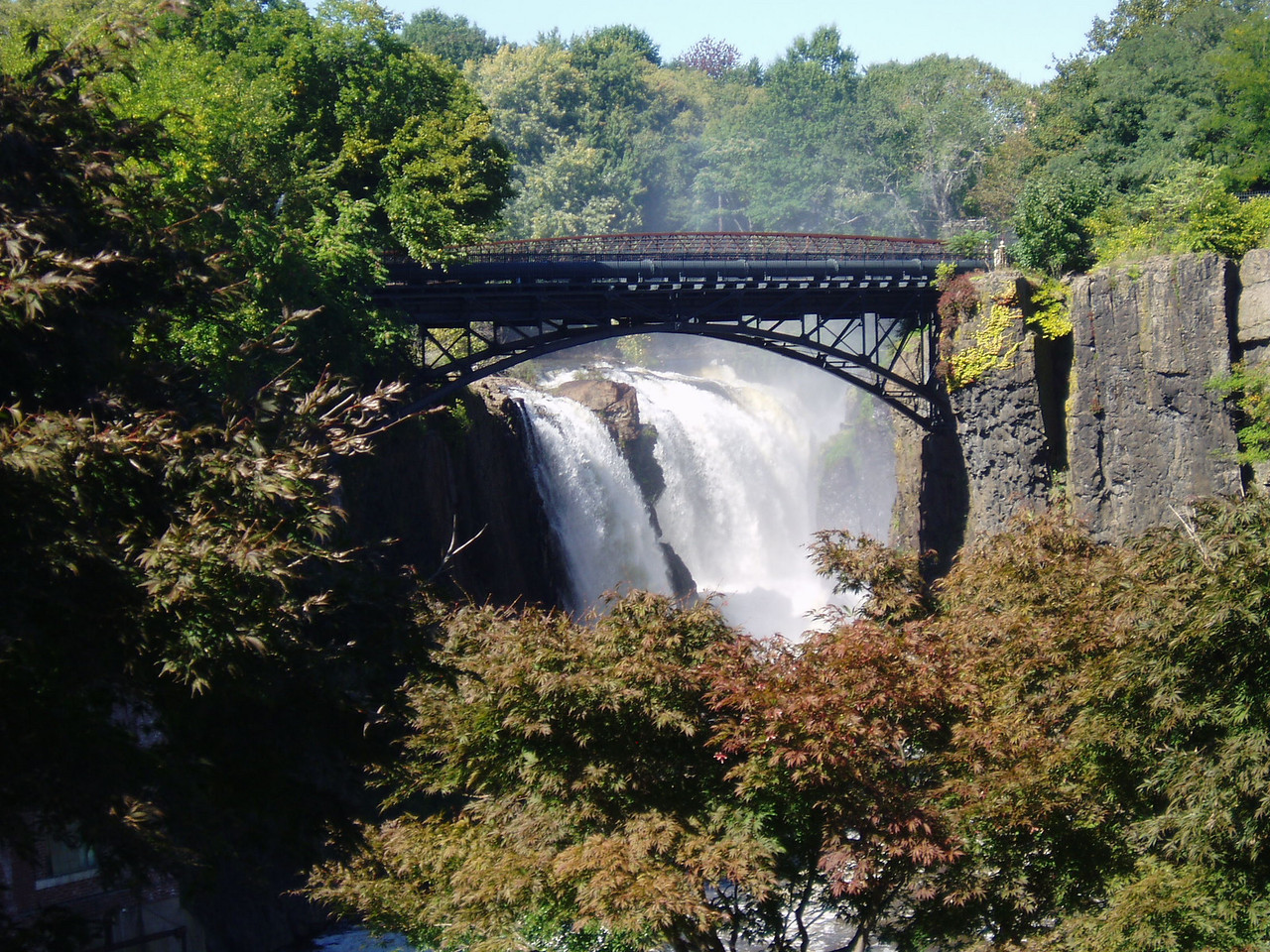 Evidently there is a large waterfall in the middle of Patterson, NJ. Who knew?