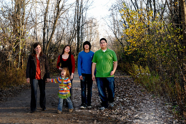 11/8/09 Family on Paint Creek trail