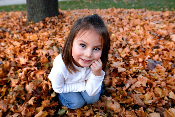 11/8/09 Madeline in the leaves