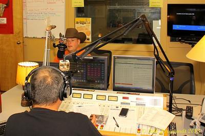 Gord Bamford at CFWE on air with Wally Desjarlais