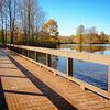 Bridge along the Corning Lake trail