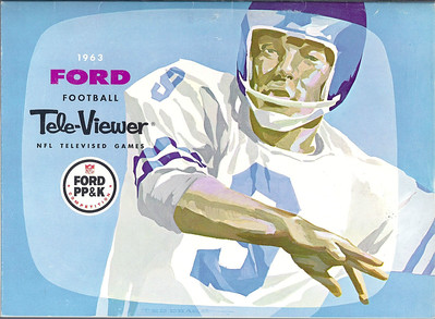 Sonny Jurgensen 1963 Ford  NFL Viewer's Guide