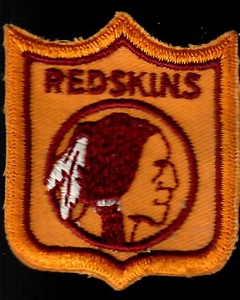 1960s Redskins Logo Patch