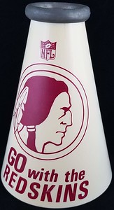 Redskins 1960s Yell-A-Phone White