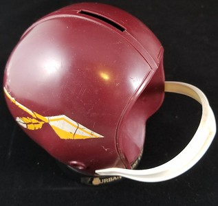 1960s Redskins Spear Helmet Bank