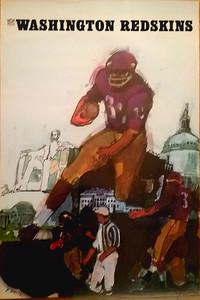 1967 NFLP Redskins Poster