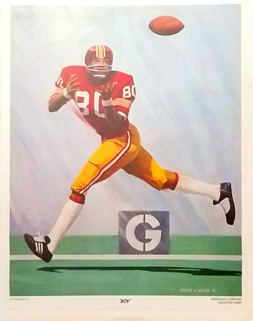 Roy Jefferson 1974 McDonald's Redskins Poster