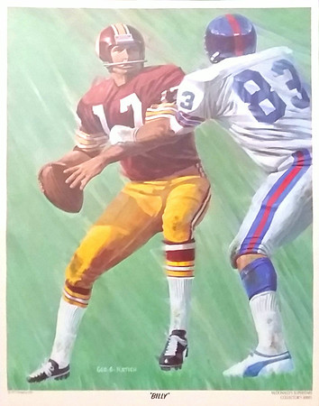 Billy Kilmer 1973 McDonald's Poster