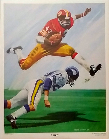Larry Brown 1974 McDonald's Redskins Poster