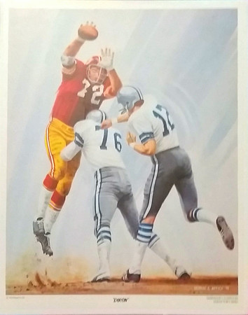 Diron Talbert 1974 McDonald's Redskins Poster