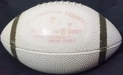 1970s Ballantine Beer Redskins Mini Football