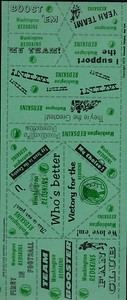 1970 Gannett Redskins Tattoos Sheet
