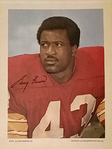1972 All Pro Graphics Larry Brown