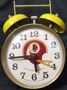 1970s Lafayette Watch Co. Redskins Alarm Clock Brazil edition