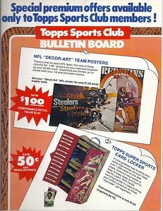 1975 Topps Sports Club Promo Flyer