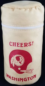 Redskins 1970s Plastic 3 Flasks and shot cup