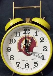 1970s Lafayette Watch Co. Redskins Alarm Clock West Germany Version