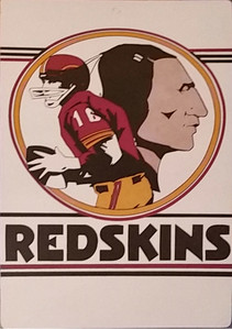 1968 Fleer Big Signs Redskins