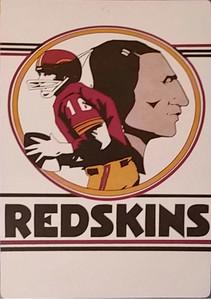 1968 Fleer Big Signs Redskins