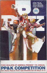 1971 Ford Punt, Pass & Kick Booklet