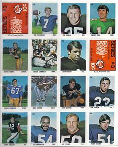 1971 Sargent CFL Stickers Sheet #3 Joe Theismann