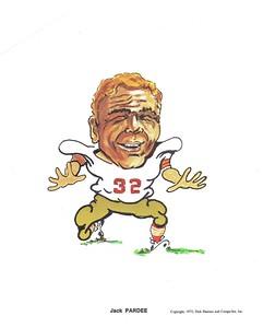 1972 Compu-Set Redskins Jack Pardee