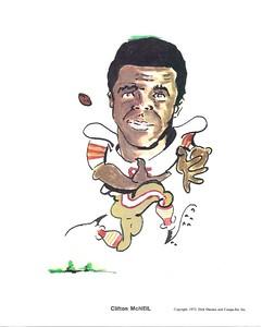 1972 Compu-Set Redskins Clifton McNeil