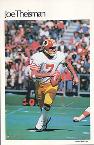 1980 Marketcom Mini Posters Joe Theismann