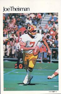 1980 Marketcom Mini Posters Joe Theismann