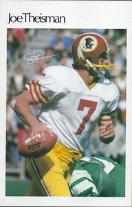 1982 Marketcom Mini Posters Joe Theismann