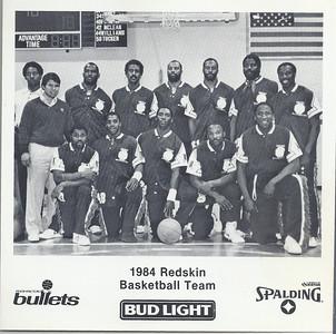 1984 Redskins Basketball Team Photo