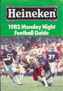 1982 Heineken Monday Night Football Guide